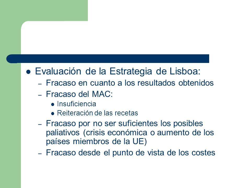 Evaluación de la Estrategia de Lisboa: