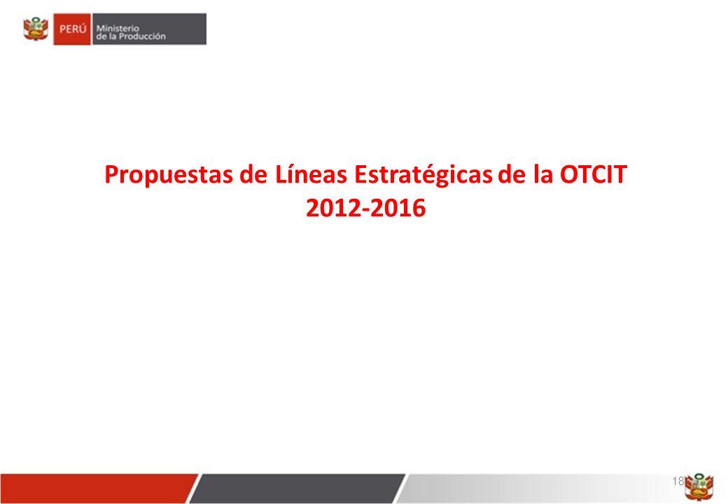 Propuestas de Líneas Estratégicas de la OTCIT 2012-2016