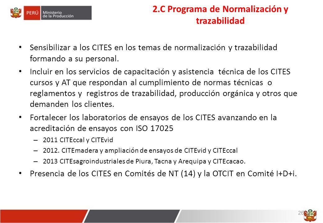 2.C Programa de Normalización y trazabilidad