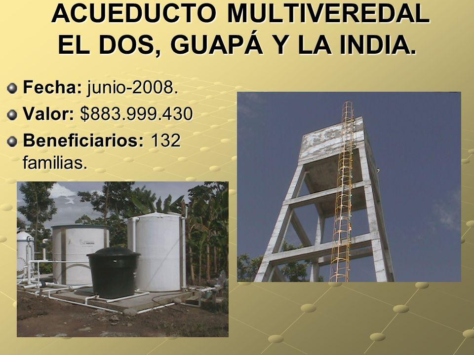 ACUEDUCTO MULTIVEREDAL EL DOS, GUAPÁ Y LA INDIA.