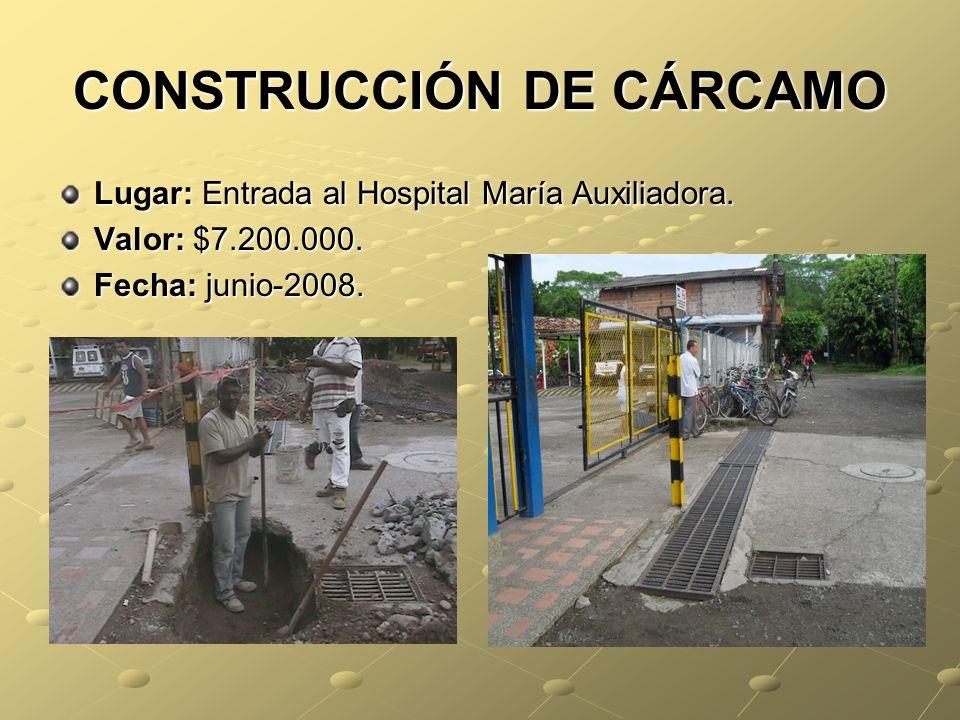 CONSTRUCCIÓN DE CÁRCAMO