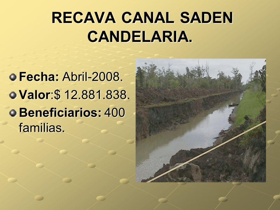 RECAVA CANAL SADEN CANDELARIA.