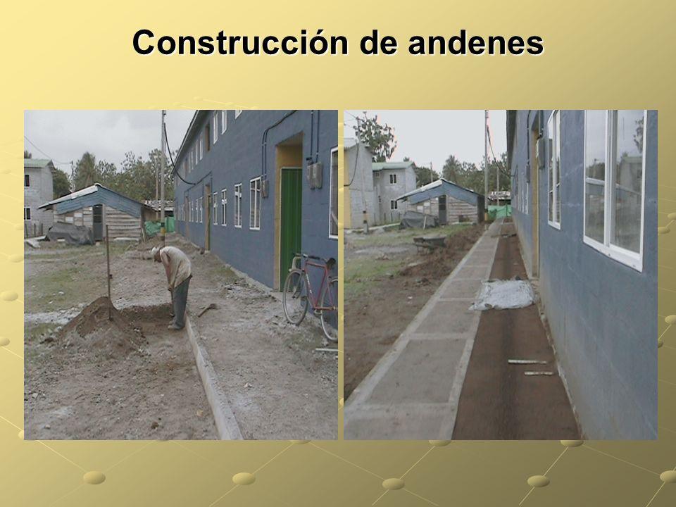 Construcción de andenes