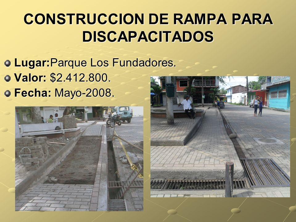 CONSTRUCCION DE RAMPA PARA DISCAPACITADOS
