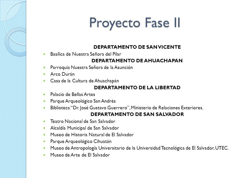 Proyecto Fase II DEPARTAMENTO DE SAN VICENTE
