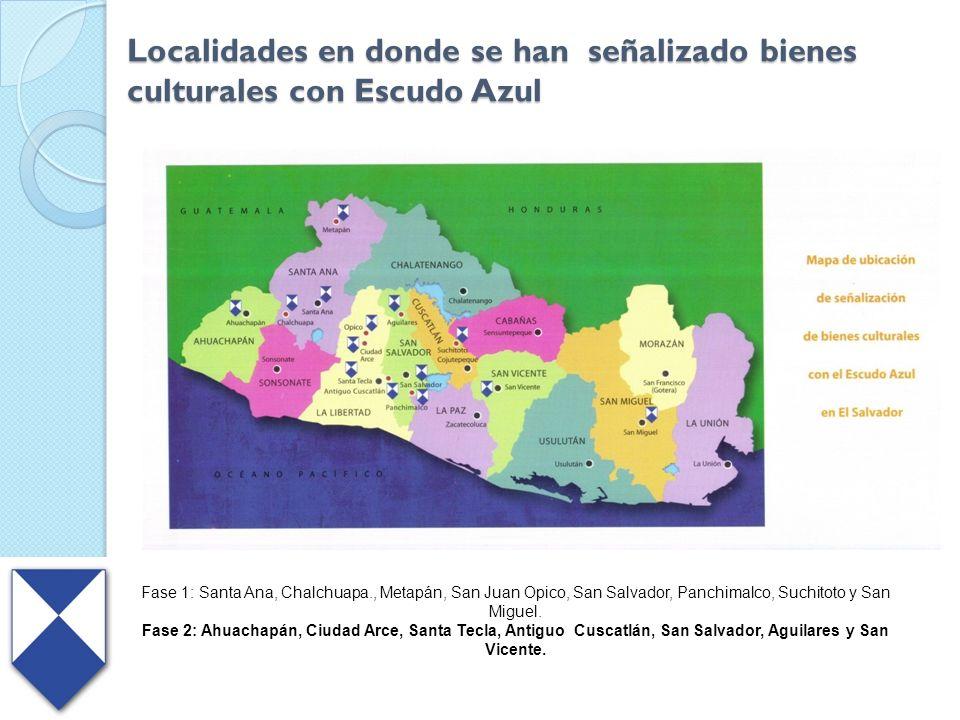 Localidades en donde se han señalizado bienes culturales con Escudo Azul