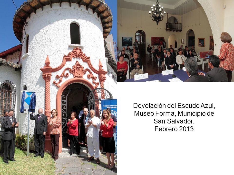 Develación del Escudo Azul, Museo Forma, Municipio de San Salvador.