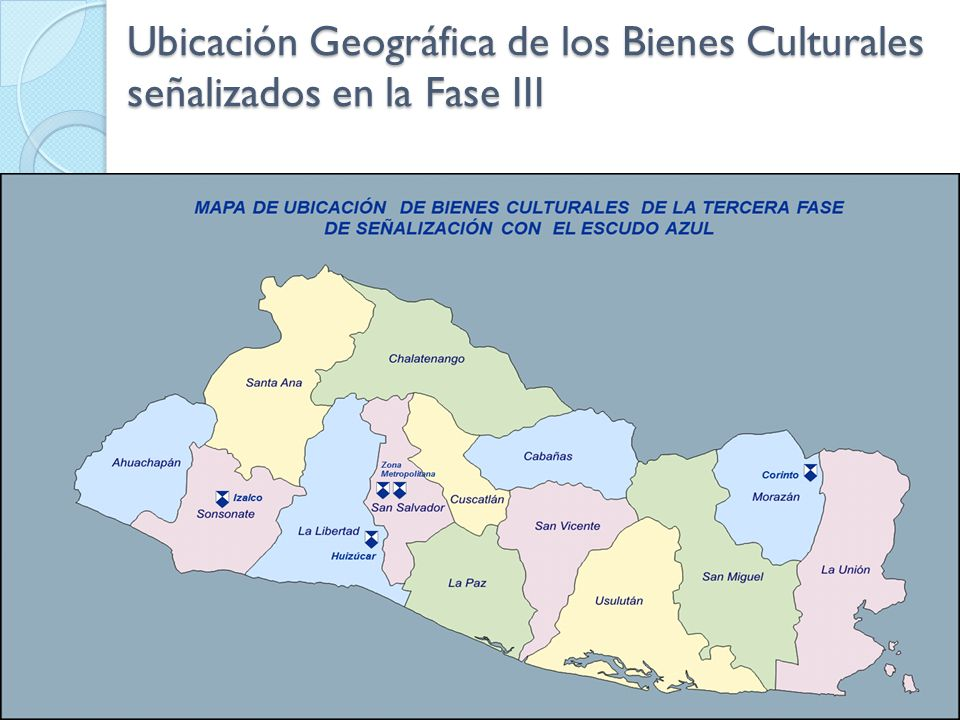 Ubicación Geográfica de los Bienes Culturales señalizados en la Fase III