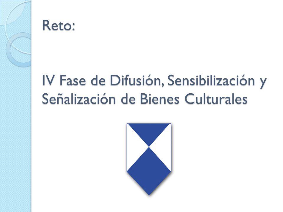 Reto: IV Fase de Difusión, Sensibilización y Señalización de Bienes Culturales