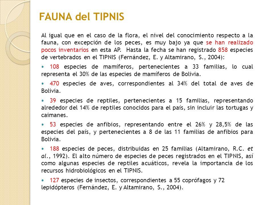 FAUNA del TIPNIS