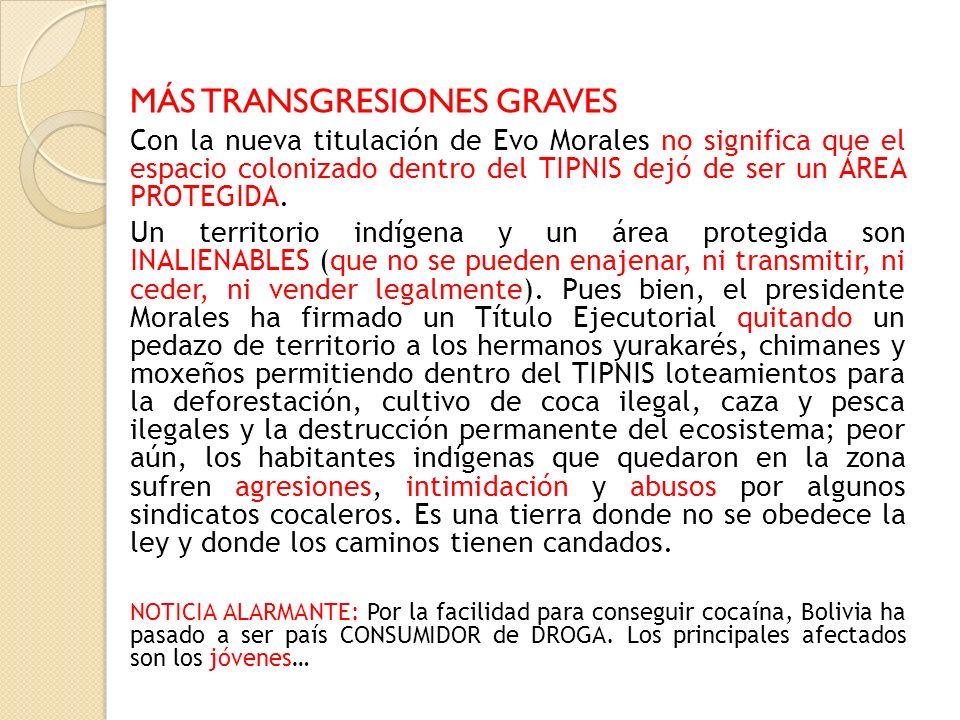 MÁS TRANSGRESIONES GRAVES