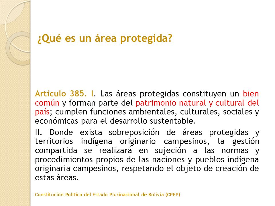 ¿Qué es un área protegida