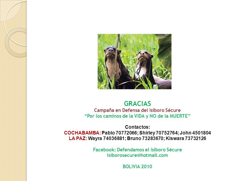 GRACIAS Campaña en Defensa del Isiboro Sécure