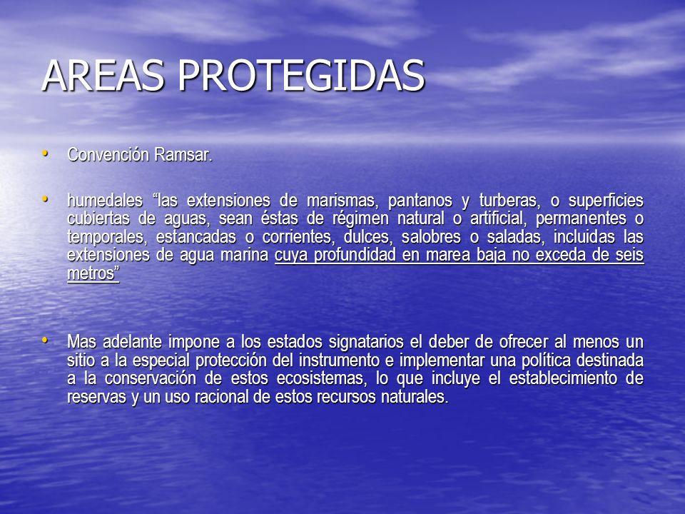 AREAS PROTEGIDAS Convención Ramsar.