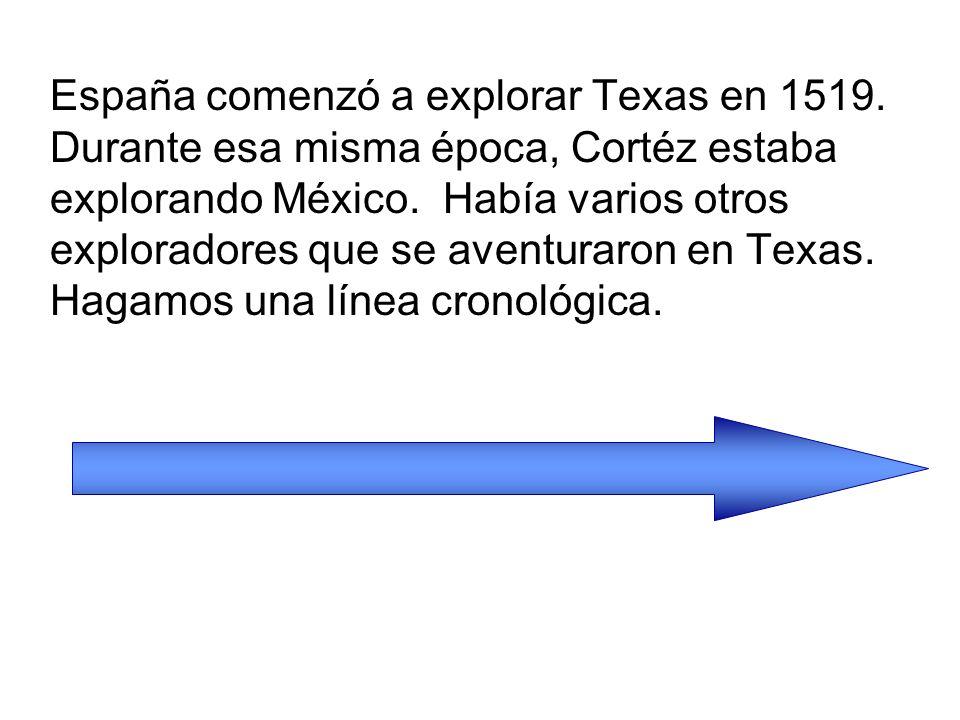 España comenzó a explorar Texas en 1519