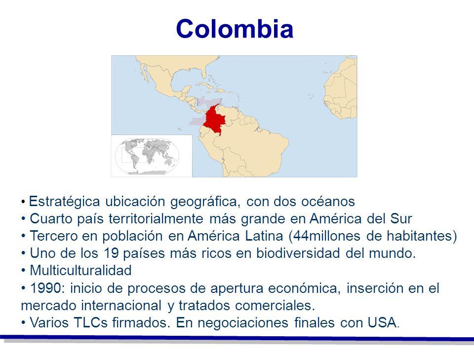 Colombia Cuarto país territorialmente más grande en América del Sur