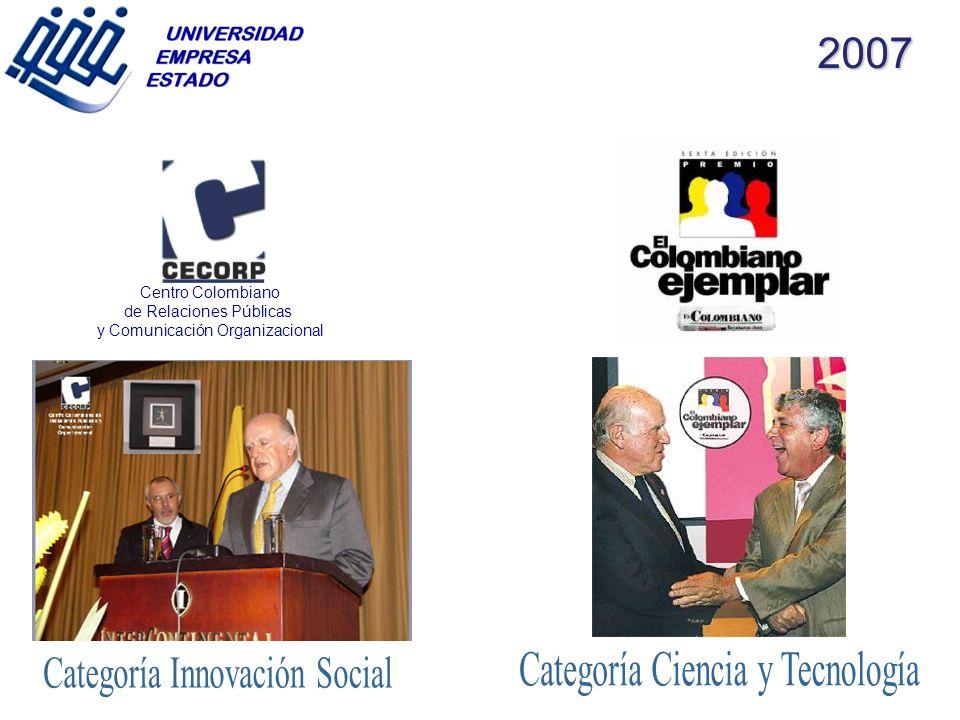 2007 Categoría Ciencia y Tecnología Categoría Innovación Social