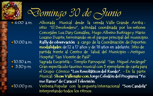 Domingo 30 de Junio