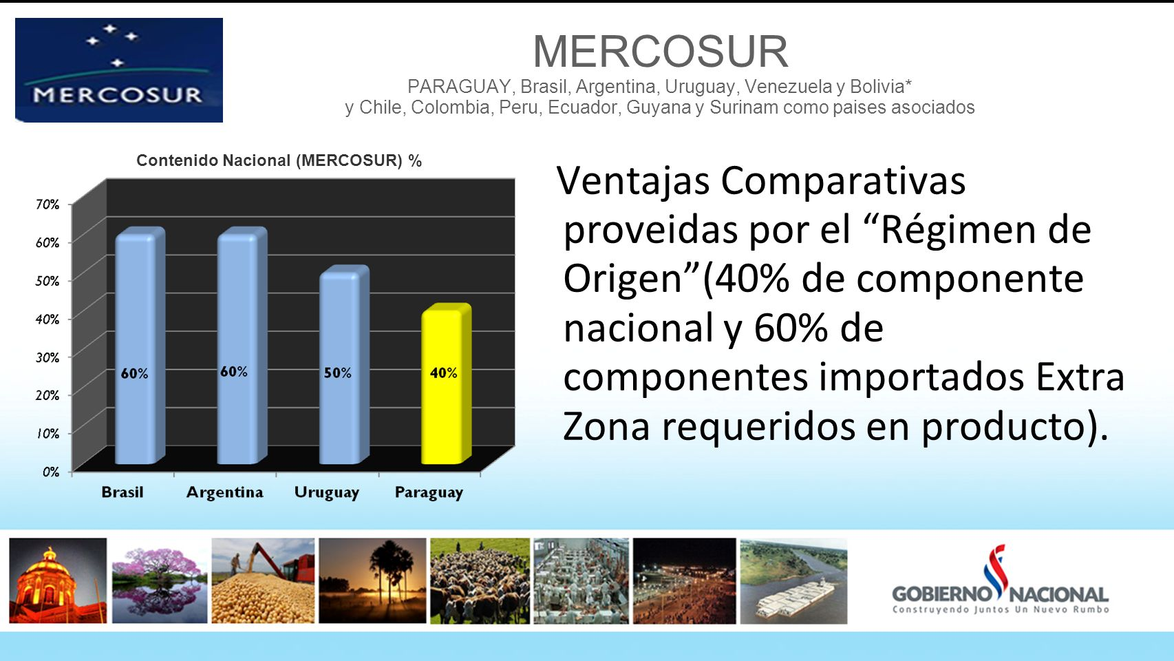 MERCOSUR PARAGUAY, Brasil, Argentina, Uruguay, Venezuela y Bolivia