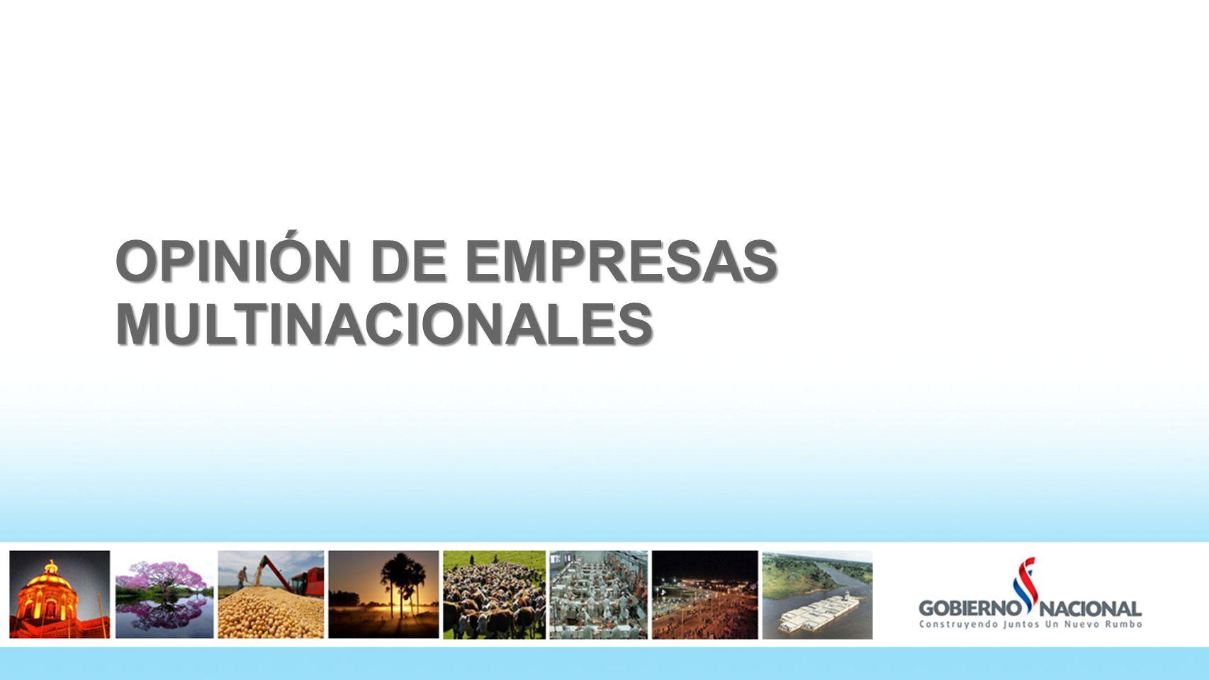 OPINIÓN DE EMPRESAS MULTINACIONALES 43