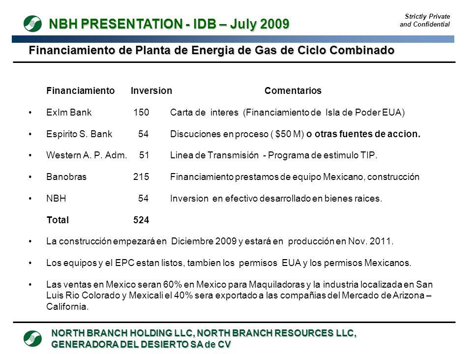 Financiamiento de Planta de Energia de Gas de Ciclo Combinado