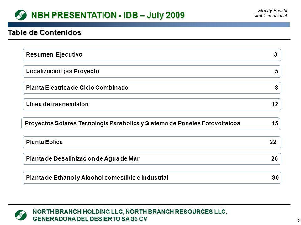 Table de Contenidos Resumen Ejecutivo 3 Localizacion por Proyecto 5