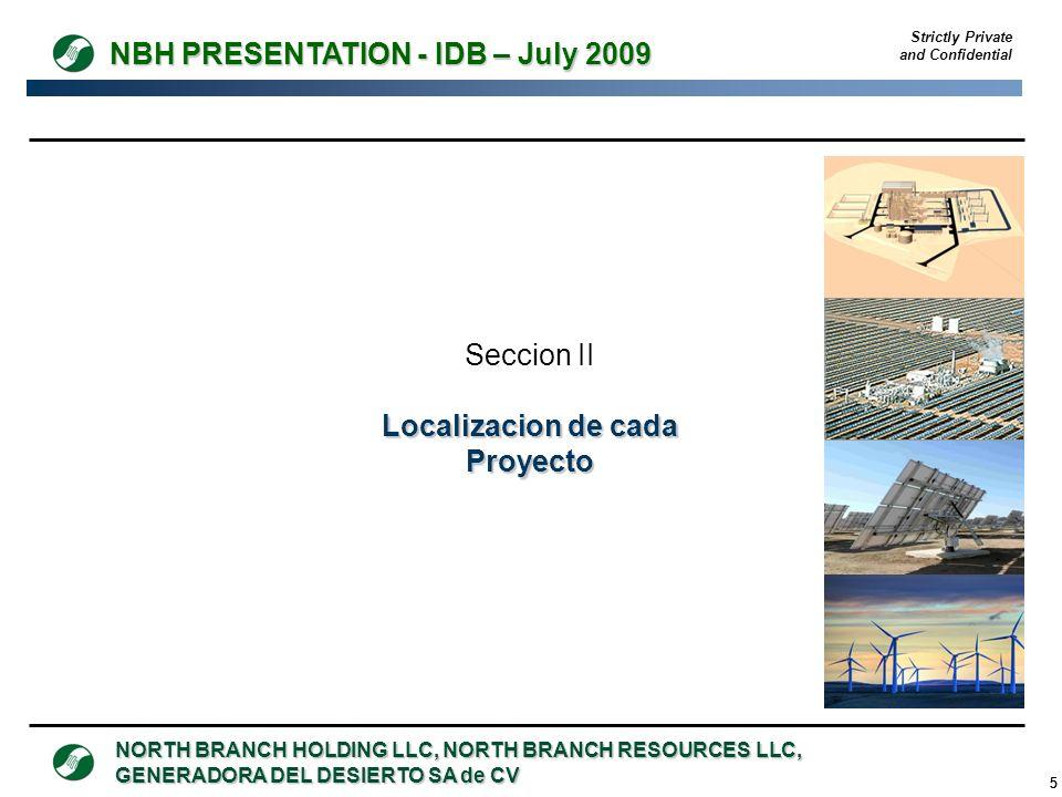 Localizacion de cada Proyecto
