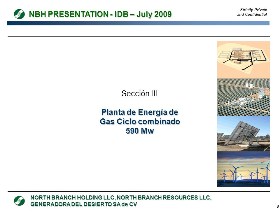 Planta de Energía de Gas Ciclo combinado 590 Mw