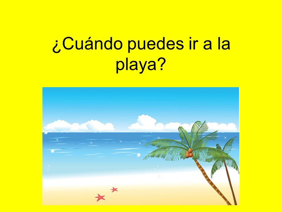 ¿Cuándo puedes ir a la playa