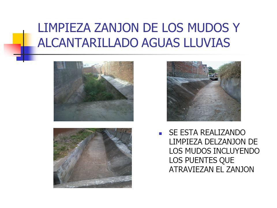 LIMPIEZA ZANJON DE LOS MUDOS Y ALCANTARILLADO AGUAS LLUVIAS