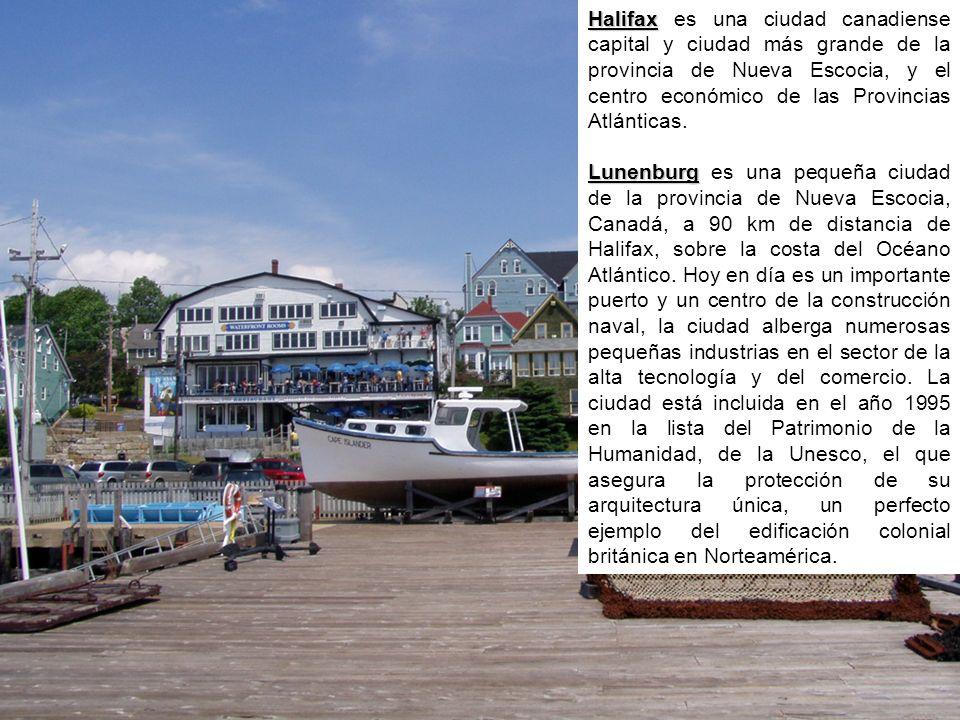 Halifax es una ciudad canadiense capital y ciudad más grande de la provincia de Nueva Escocia, y el centro económico de las Provincias Atlánticas.