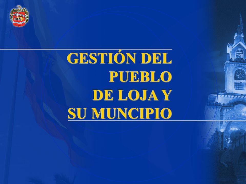 GESTIÓN DEL PUEBLO DE LOJA Y SU MUNCIPIO