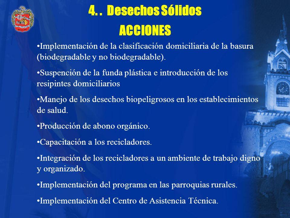 4. . Desechos Sólidos ACCIONES