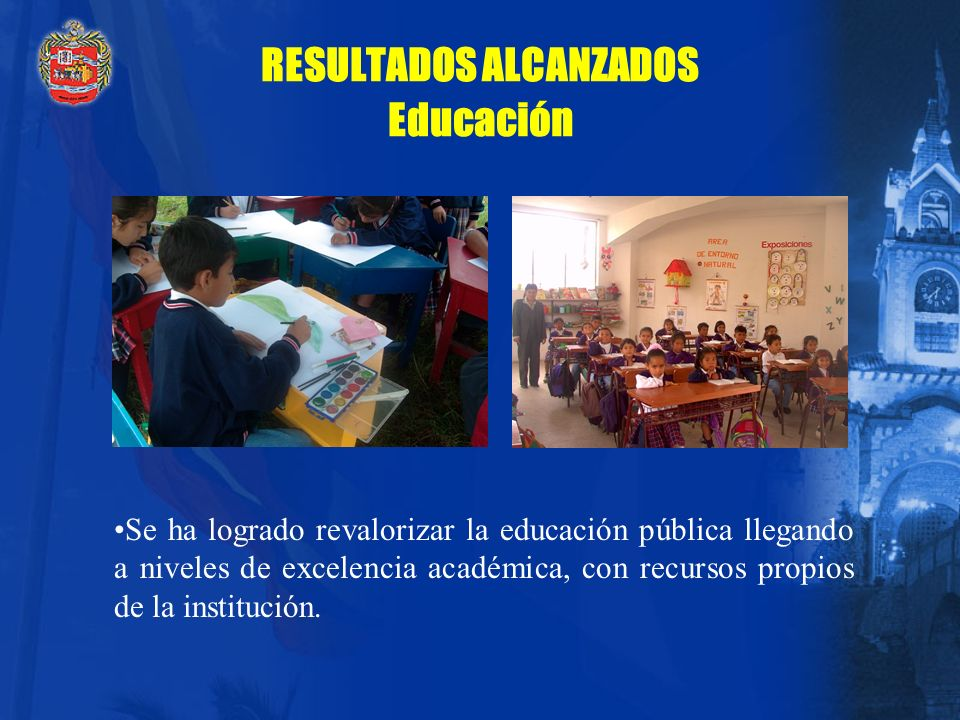 RESULTADOS ALCANZADOS Educación
