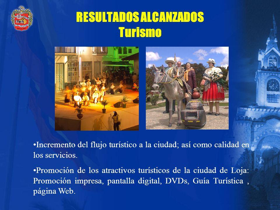 RESULTADOS ALCANZADOS Turismo