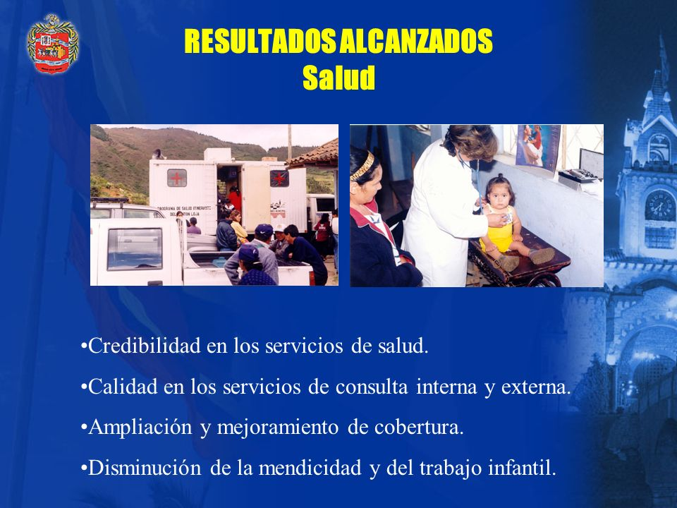 RESULTADOS ALCANZADOS Salud