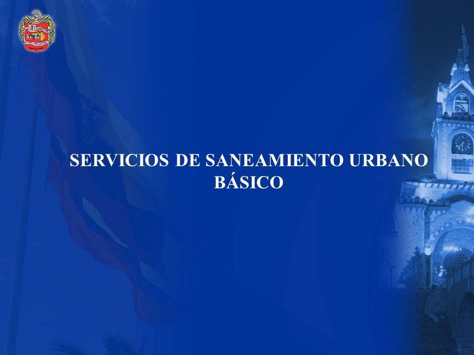 SERVICIOS DE SANEAMIENTO URBANO BÁSICO