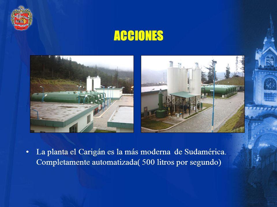 ACCIONES La planta el Carigán es la más moderna de Sudamérica.