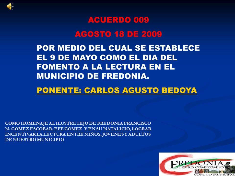 PONENTE: CARLOS AGUSTO BEDOYA