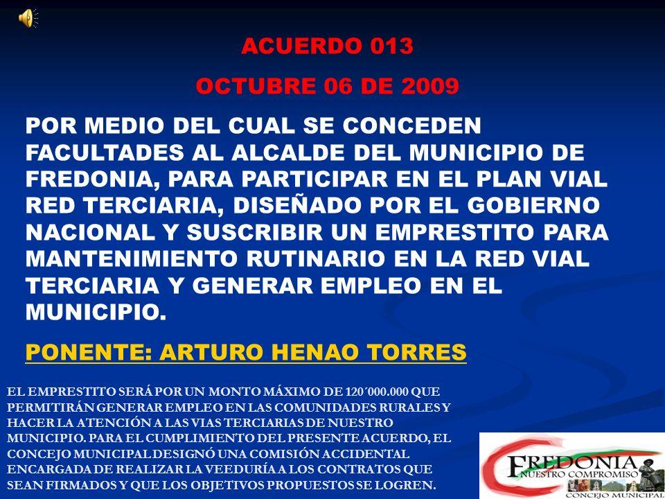 PONENTE: ARTURO HENAO TORRES