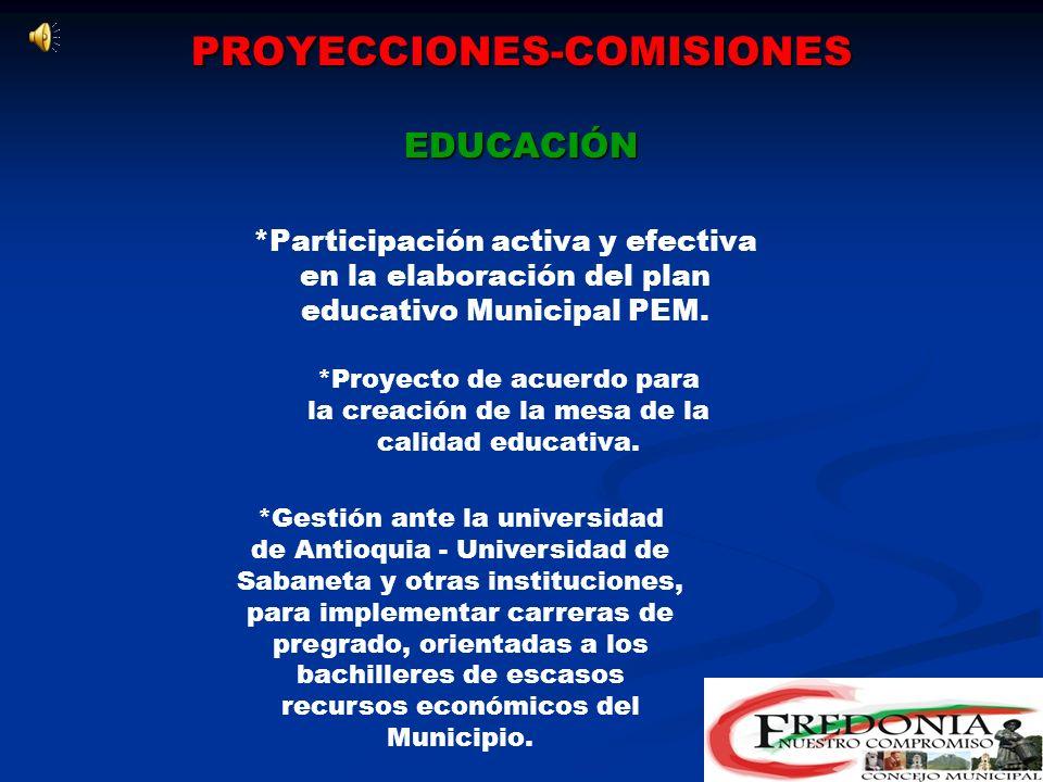 PROYECCIONES-COMISIONES EDUCACIÓN