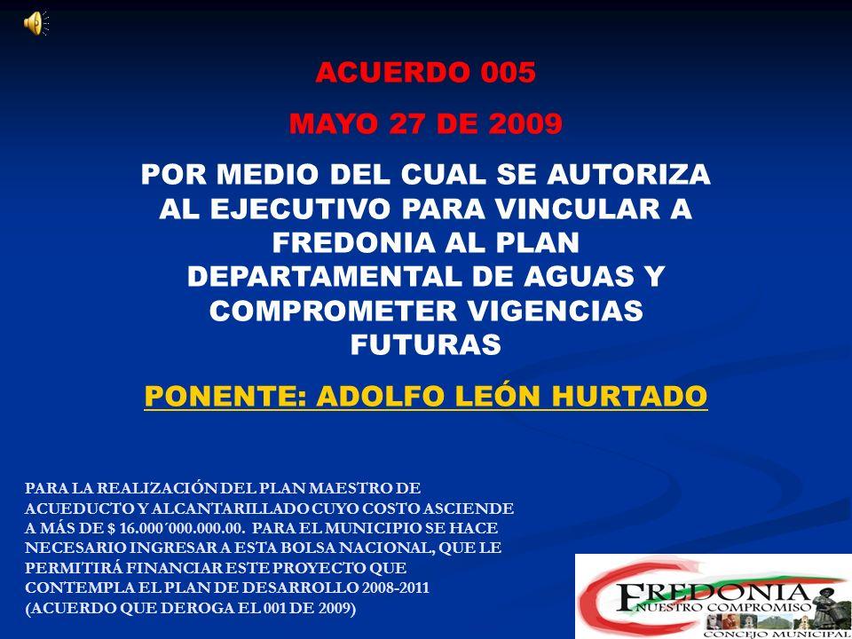 PONENTE: ADOLFO LEÓN HURTADO