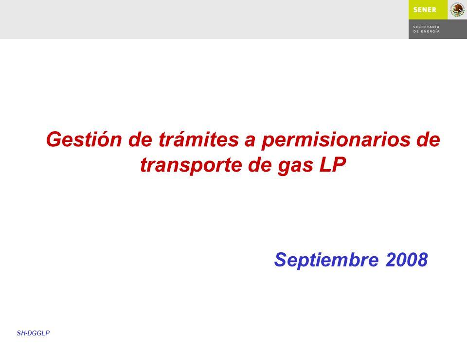 Gestión de trámites a permisionarios de transporte de gas LP