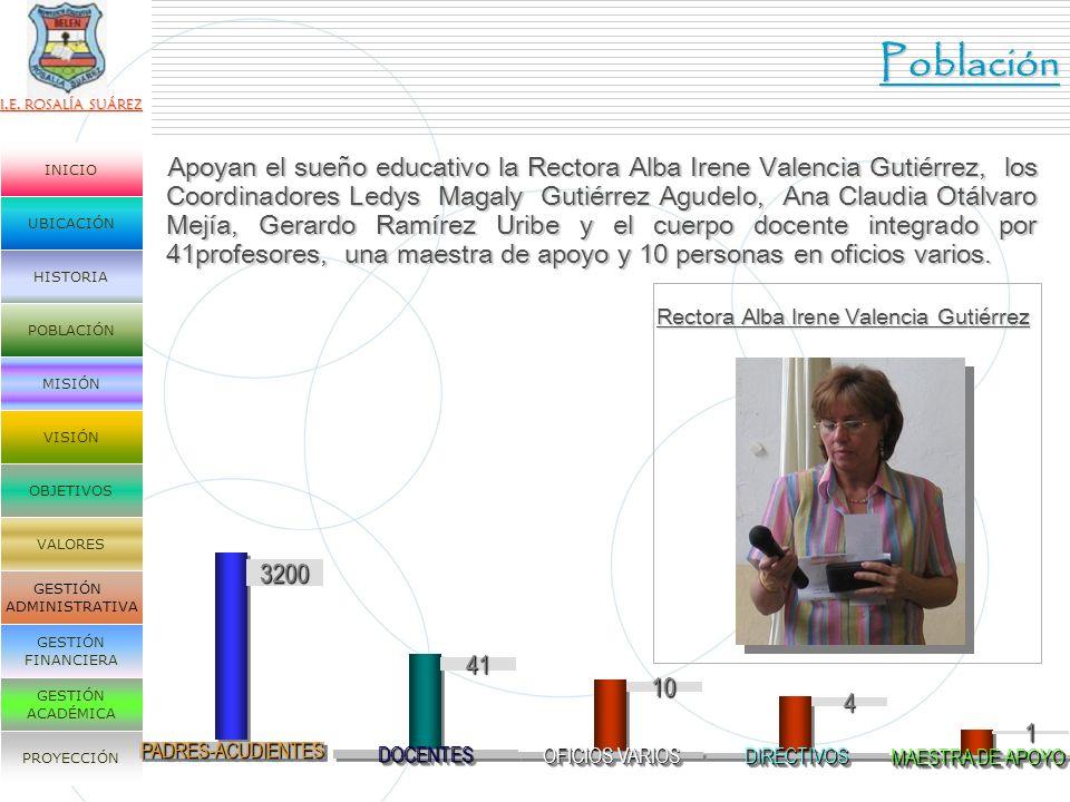 Rectora Alba Irene Valencia Gutiérrez