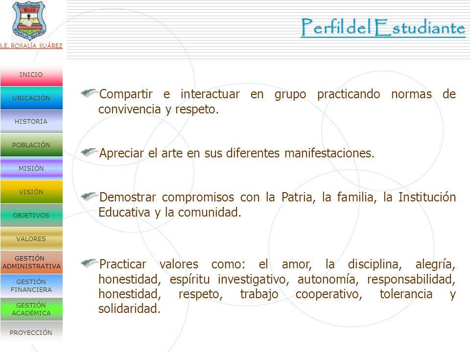 Perfil del Estudiante Compartir e interactuar en grupo practicando normas de convivencia y respeto.