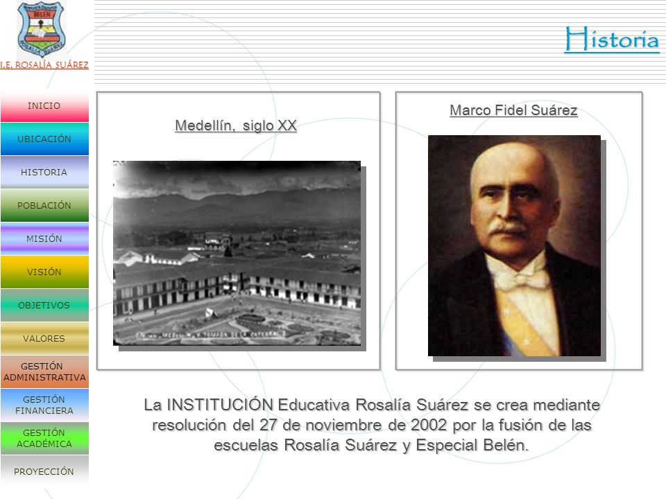 Historia Marco Fidel Suárez. Medellín, siglo XX.