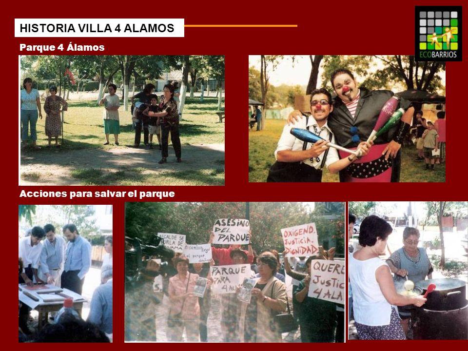 HISTORIA VILLA 4 ALAMOS Parque 4 Álamos Acciones para salvar el parque