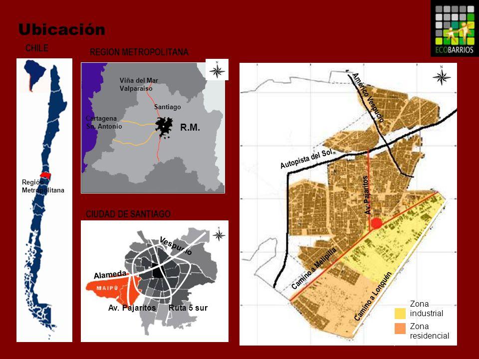Ubicación CHILE REGION METROPOLITANA R.M. CIUDAD DE SANTIAGO