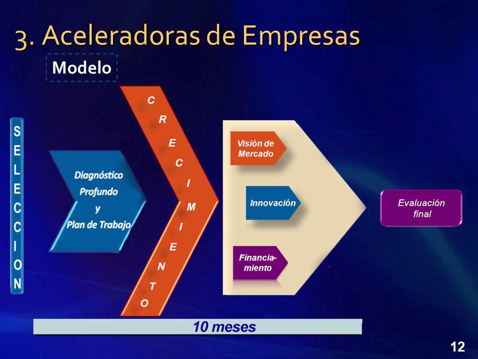 3. Aceleradoras de Empresas