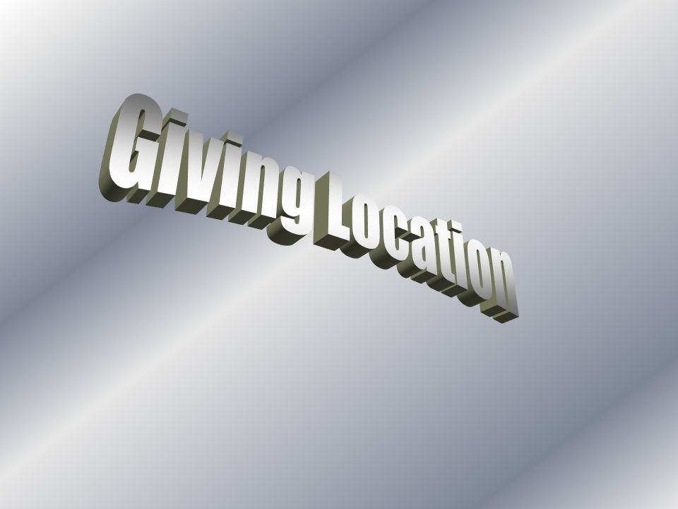 Giving Location